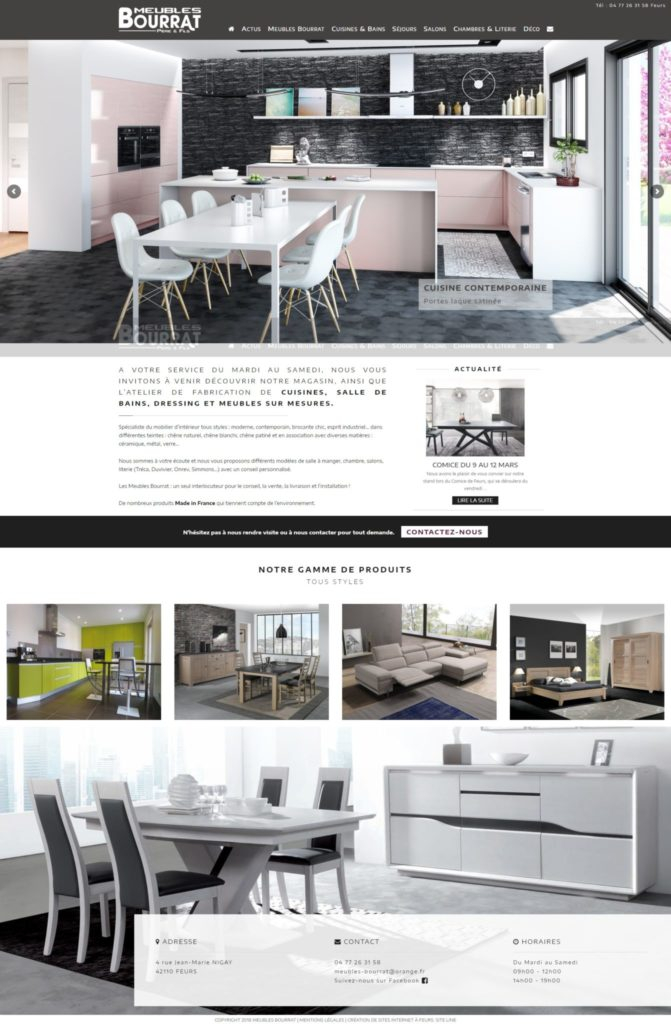 refonte site internet meubles bourrat à feurs