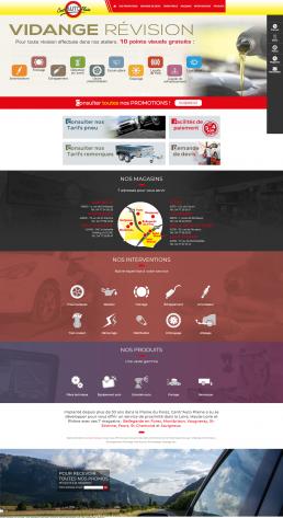 Création du site Internet d'un garage