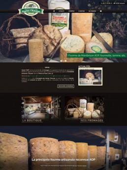création du site internet d'un fromager de la Loire