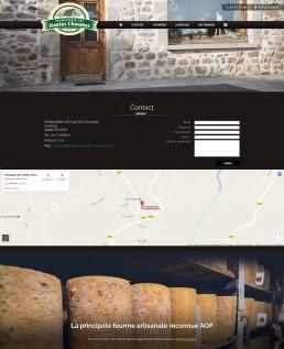 création du site web d'un fromager