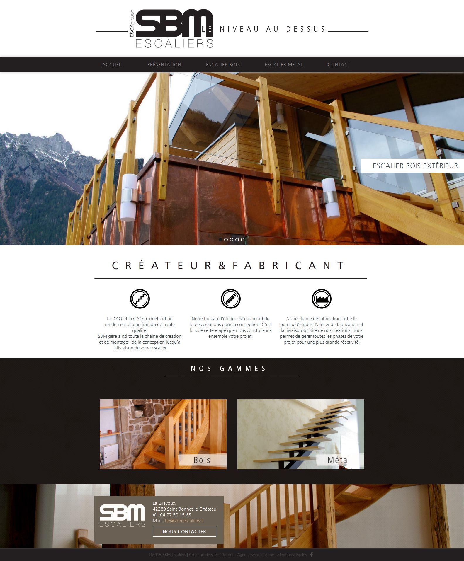 Fabricant D Escalier Bois sbm escaliers - création du site web d'un fabricant d