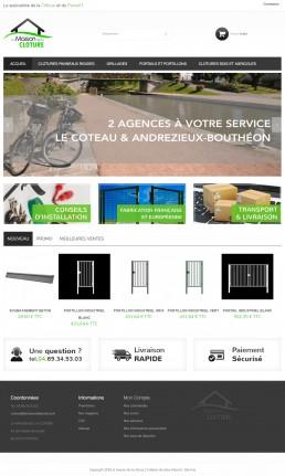 site de vente en ligne de clôtures