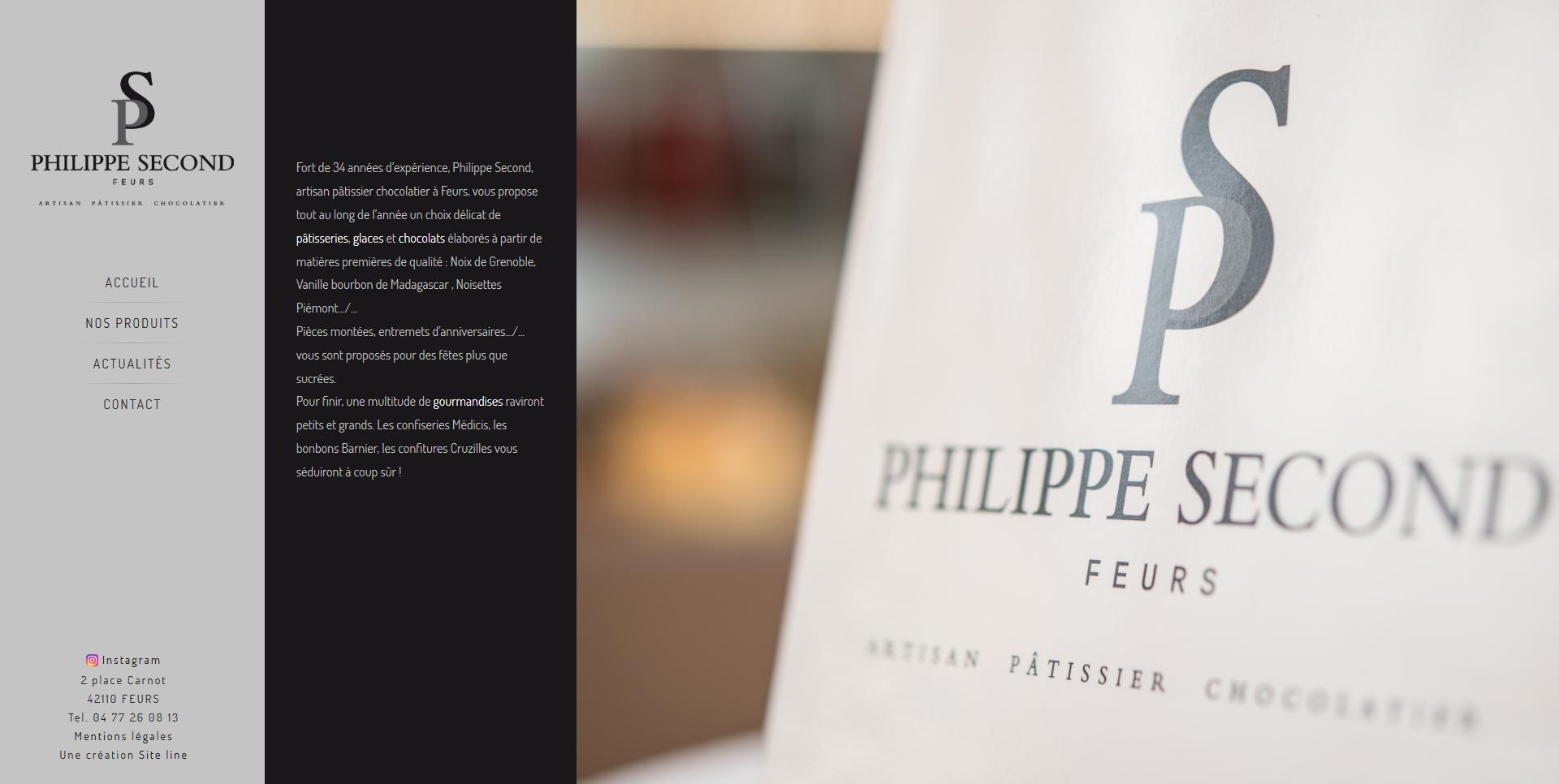 création site internet pâtissier