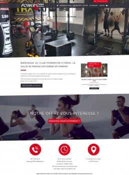 création du site web d'une salle de sports