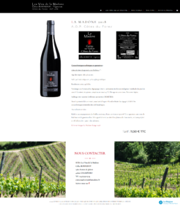 conception site web vigneron