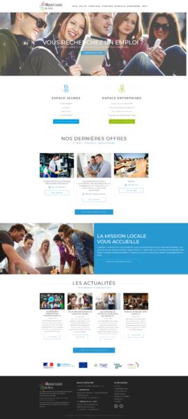 conception site web Mission Locale du Forez à Montbrison et Andrézieux
