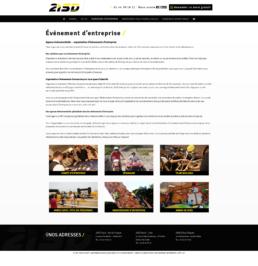 création site internet agence evenementielle Calais
