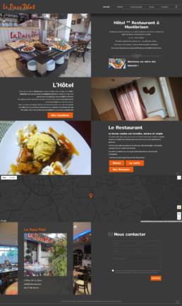 création du site web d'un hôtel restaurant à Montbrison