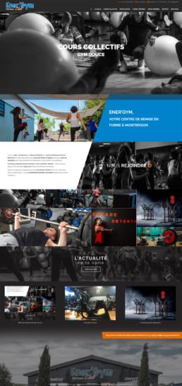 création du site web d'une salle de sport