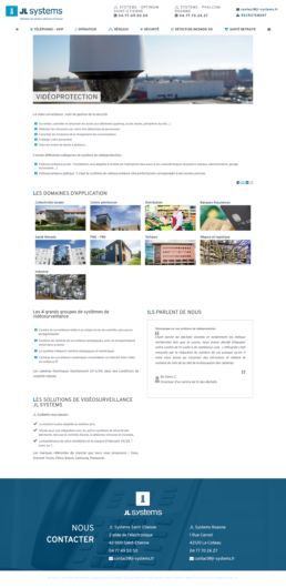 création site web JL Systems Roanne
