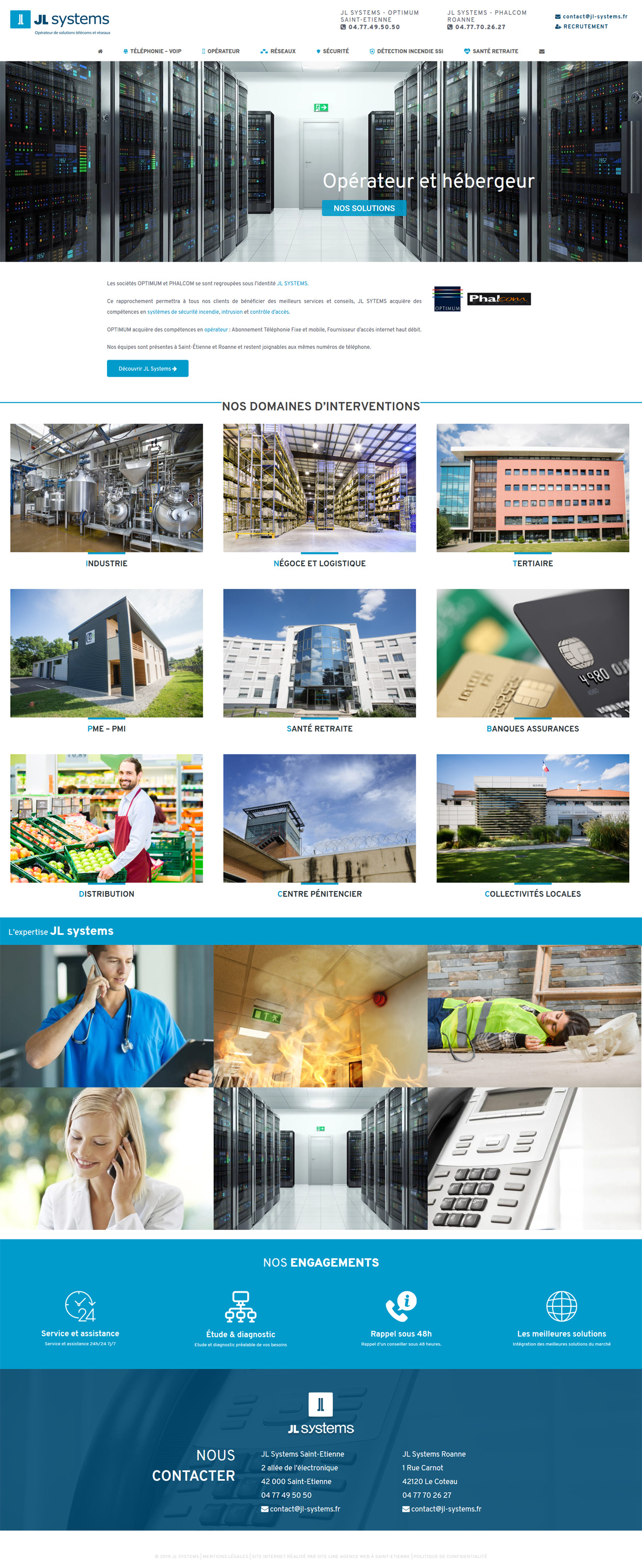 création site web JL Systems