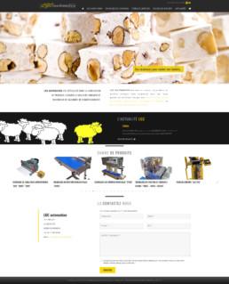 réalisation site internet LGC Automation