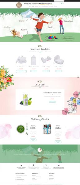 création d'un site de vente en ligne de produits bio made in France