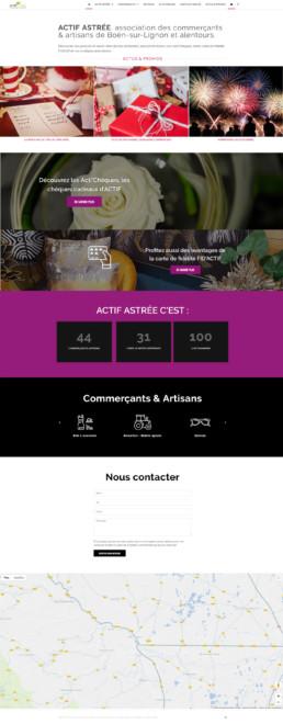 création du site web d'une association de commerçants