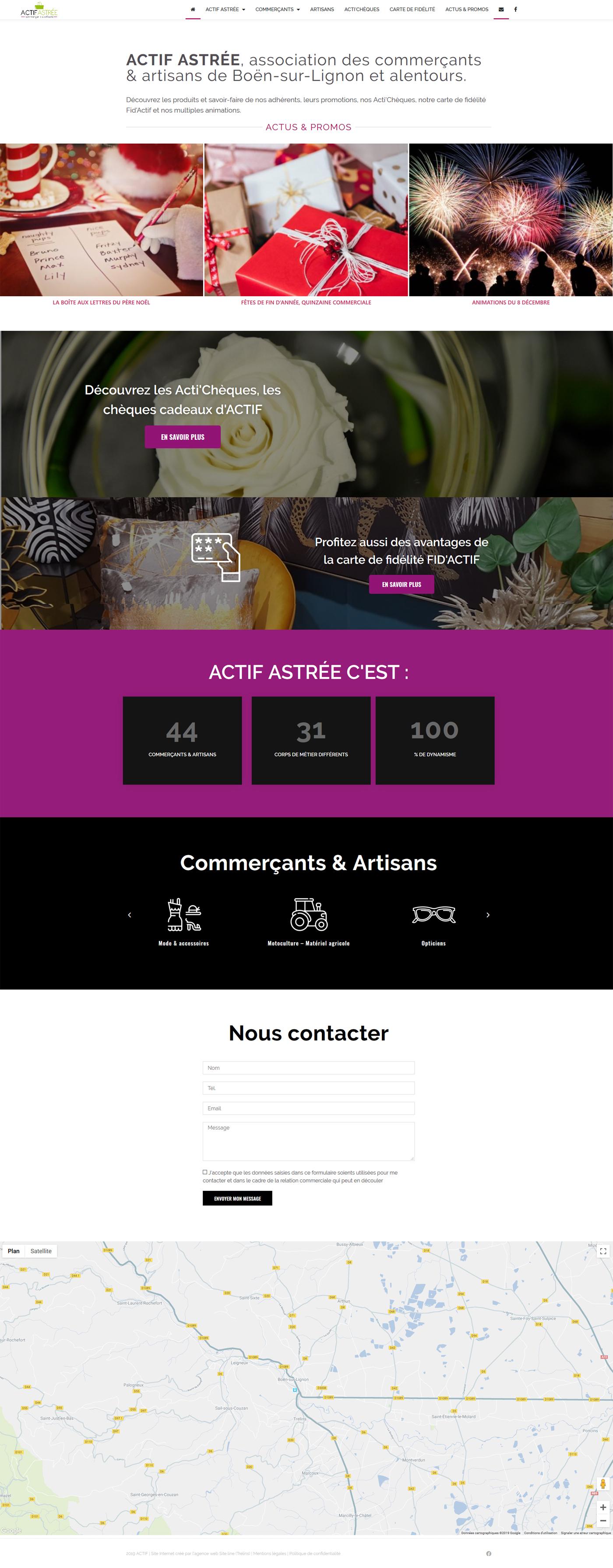 création du site Internet d'une association de commerçants