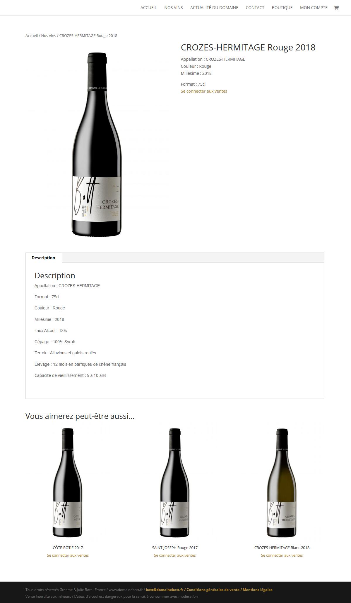 création site de vente en ligne de vignerons