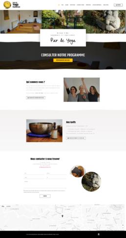 création site internet centre de yoga
