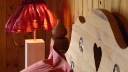 chambre duplex savoyard détail à l'étage