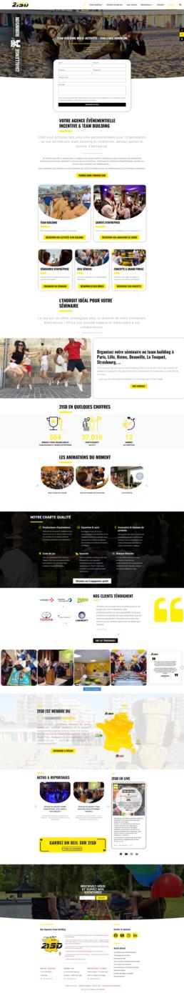 création site web agence événementielle paris lille