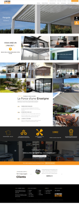 Réalisation site Internet fabricant et installateur de stores - Loire, Rhône, Isère, Drôme, Cannes