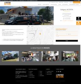 Création site Internet store, volets roulants, moustiquaires, Loire, 42