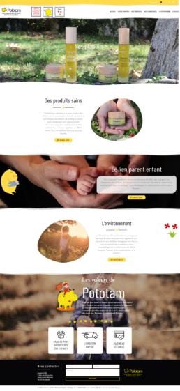 Conception site de vente en ligne WooCommerce -Pototam-