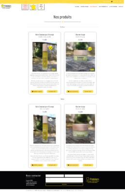 Création site de vente en ligne cosmétiques bio pour bebes et enfants