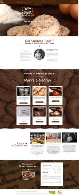 creation site internet vente en ligne biscuiterie bio