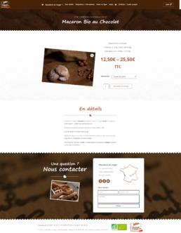 site e-commerce biscuits bio