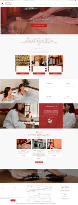 Création du site web d'un spa, sauna, hammam à Feurs