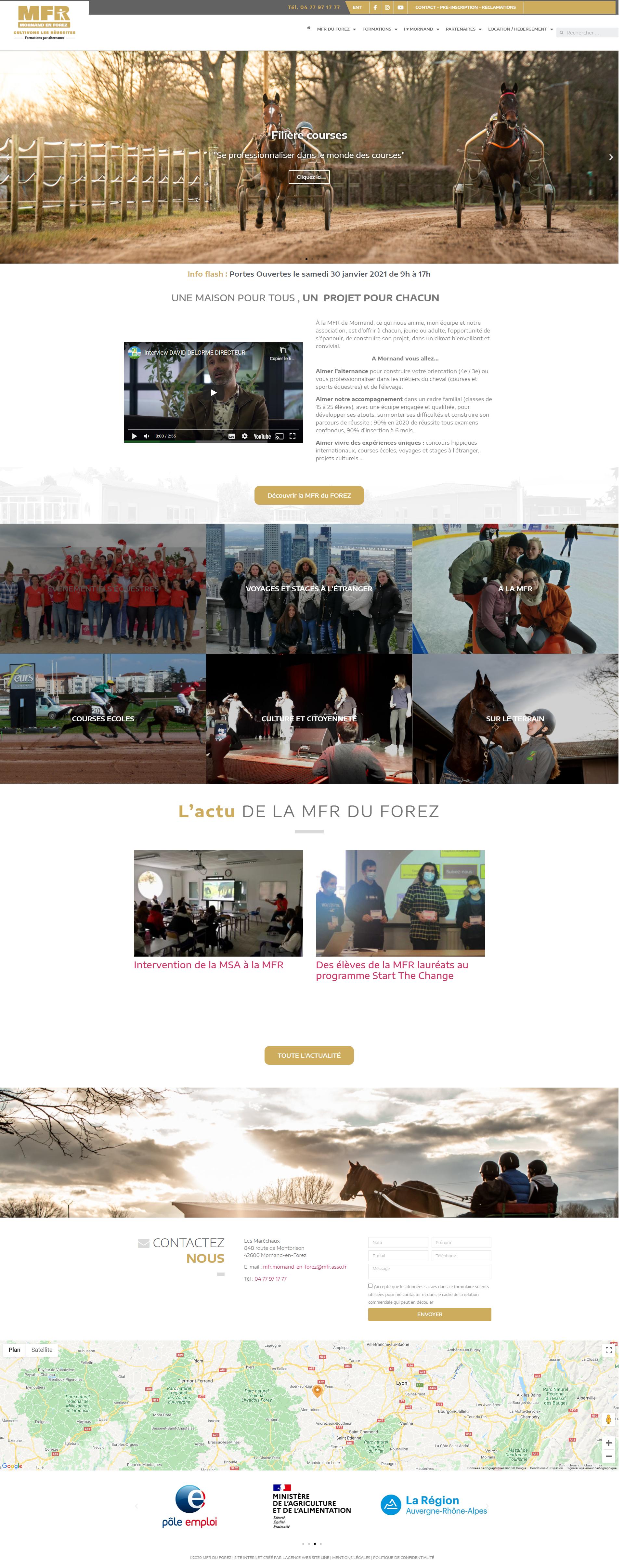 créateur site web MFR DU FOREZ