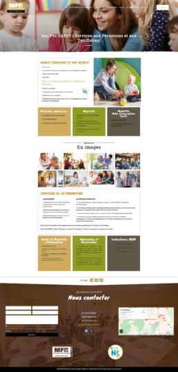 refonte site web MFR de Montbrison