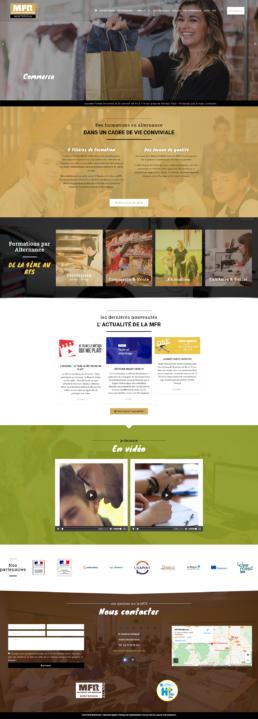 refonte site Internet MFR Montbrison