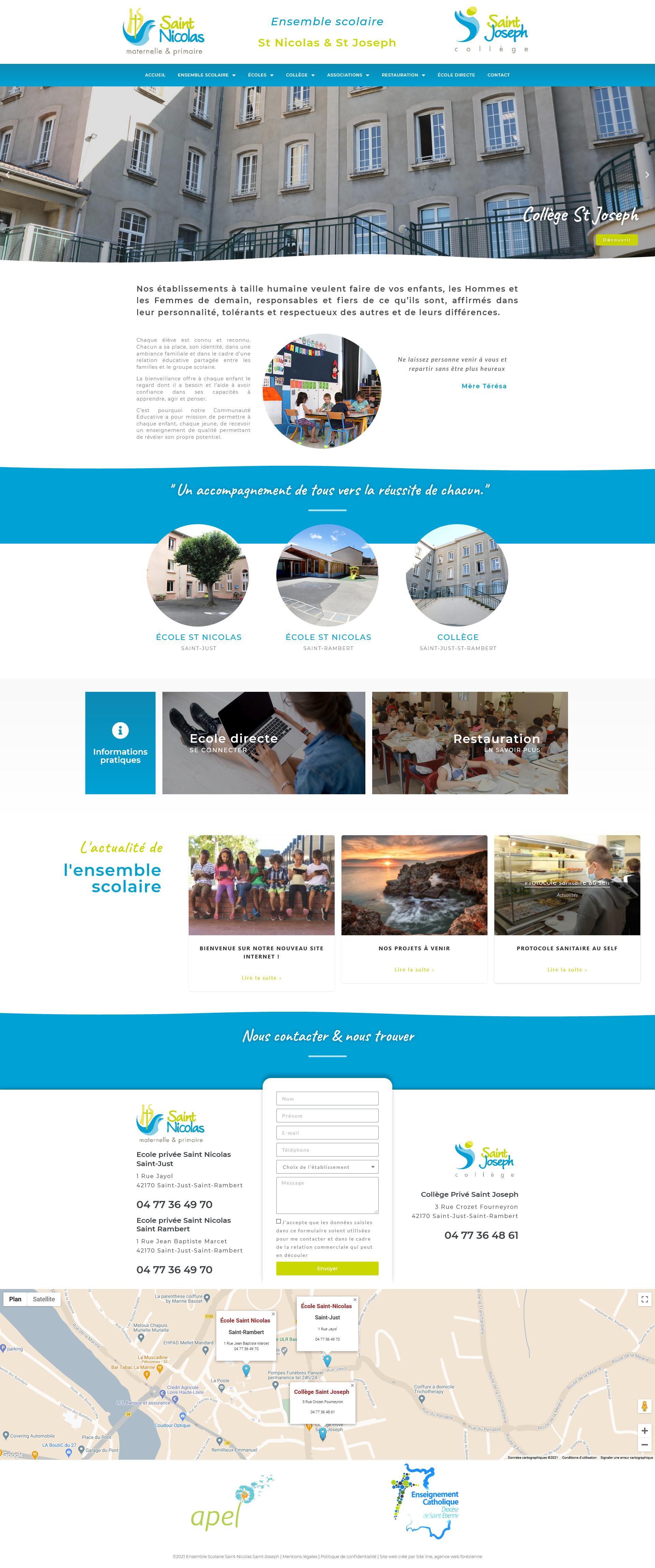 Création site web école collège Loire 42