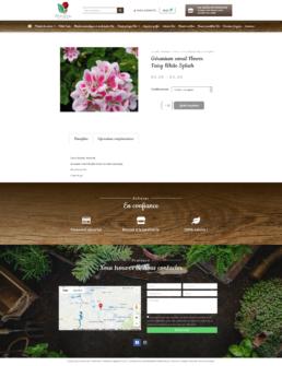 Création site web click & collect exploitation horticole
