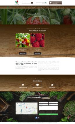 Réalisation site click and collect plantes, fruits, légumes à St-Etienne