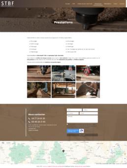 conception site web menuiserie loire