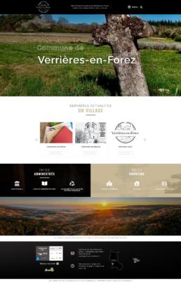 création site Internet commune de Verrières-en-Forez (Loire)