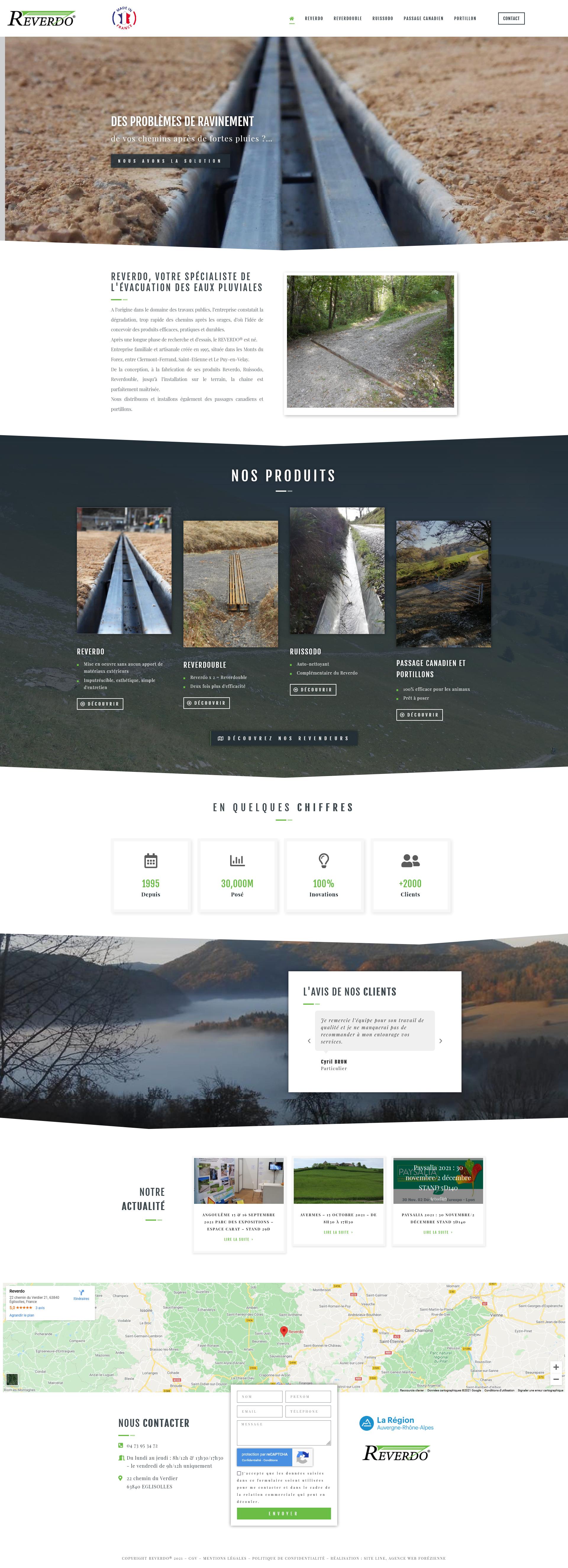 créateur site web BTP Puy-de-Dome - REVERDO