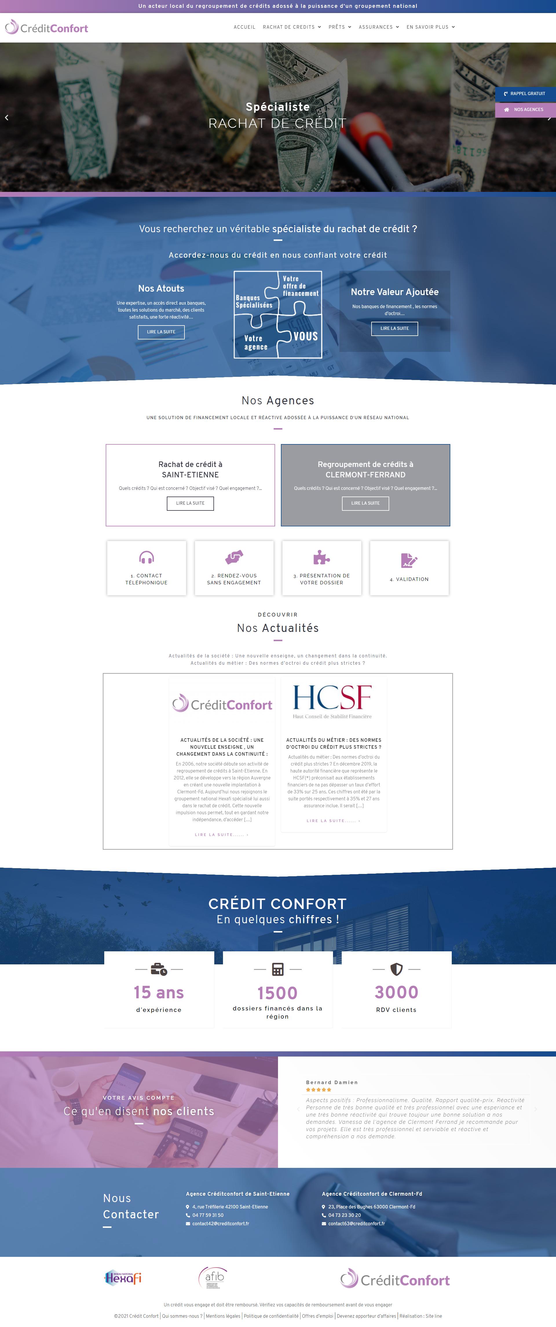 createur site web rachat de crédit à Saint-Etienne Clermont-Ferrand, regroupement de crédit