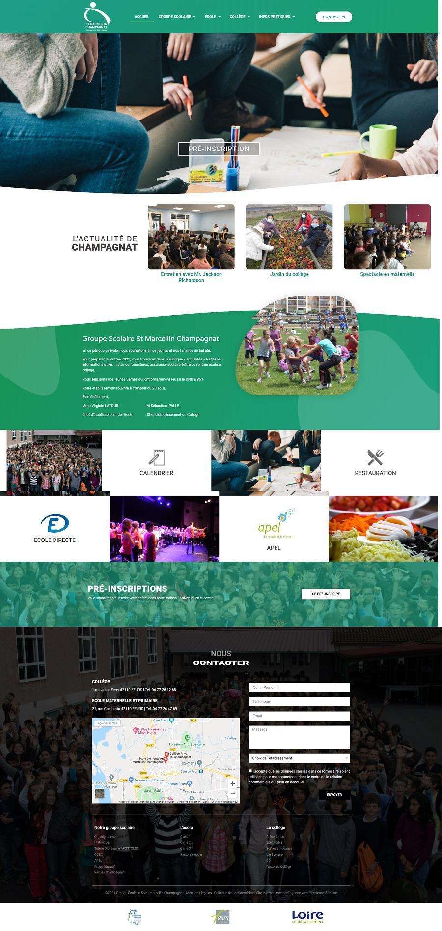 création site Internet école et collège loire 42