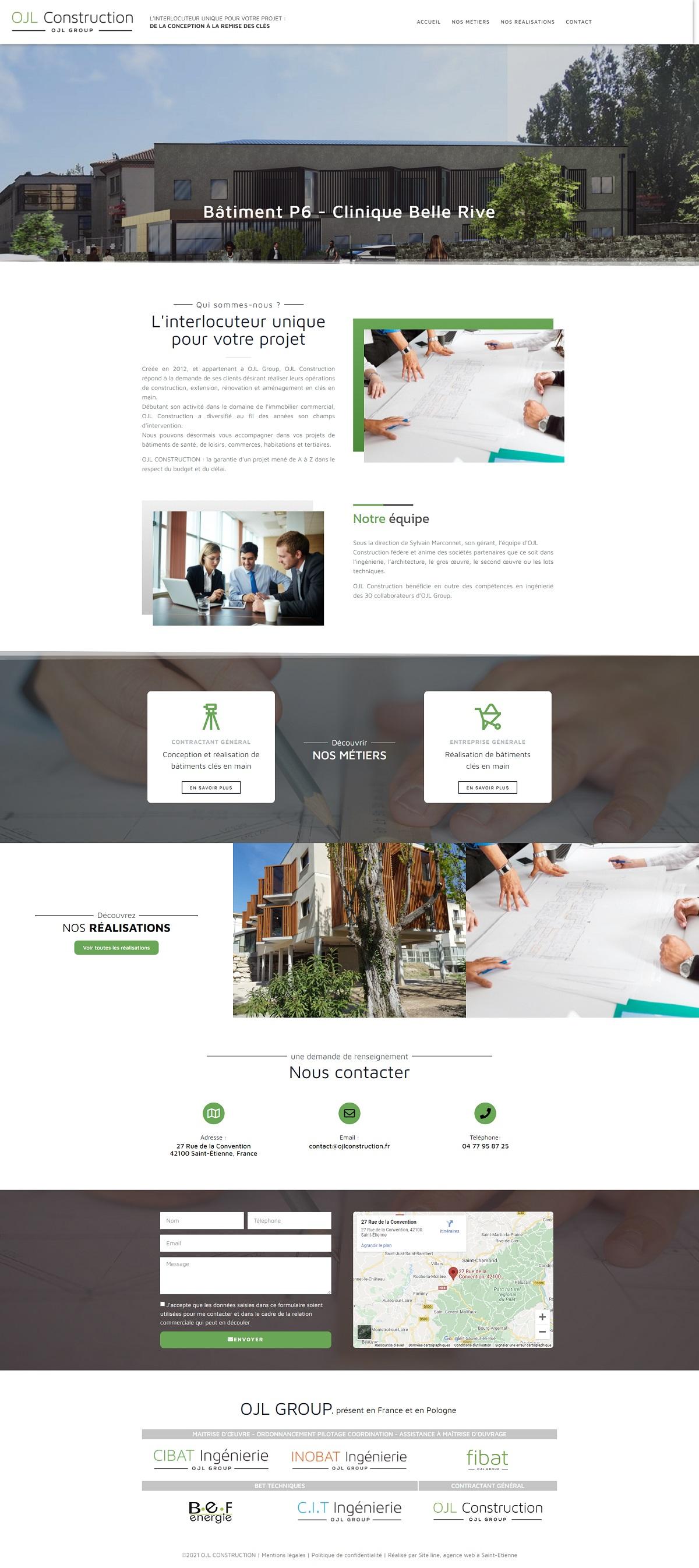 Création site Internet conception et réalisation de bâtiments clés en main - OJL Construction