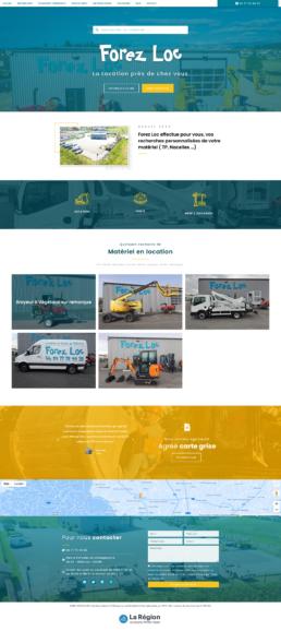 Création site Internet location matériels BTP, espaces verts, élévation à Boen - Forez Loc