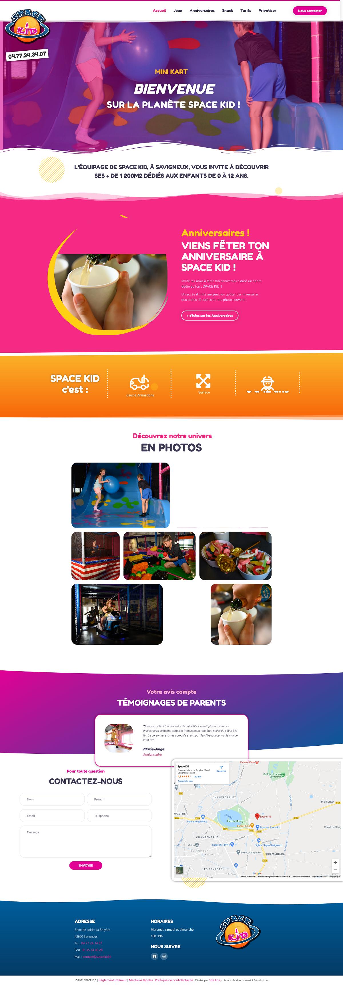 refonte site Internet aire de jeux pour enfants